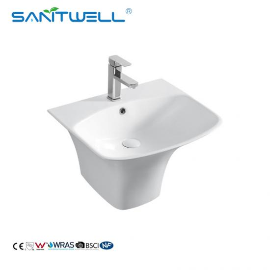 Wall hung bathroom basins