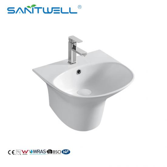 Wall hung corner basin