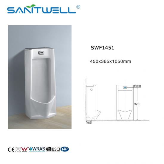 pedestal ceramic men urinal