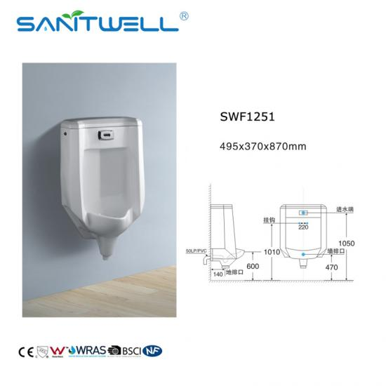 ceramic wall mounted urinal