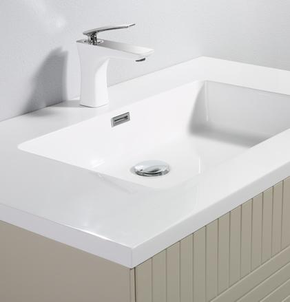 Bathroom wash basin and cabinet