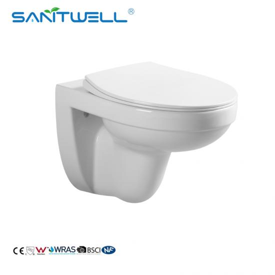 Glossy White Wall Hang Toilet