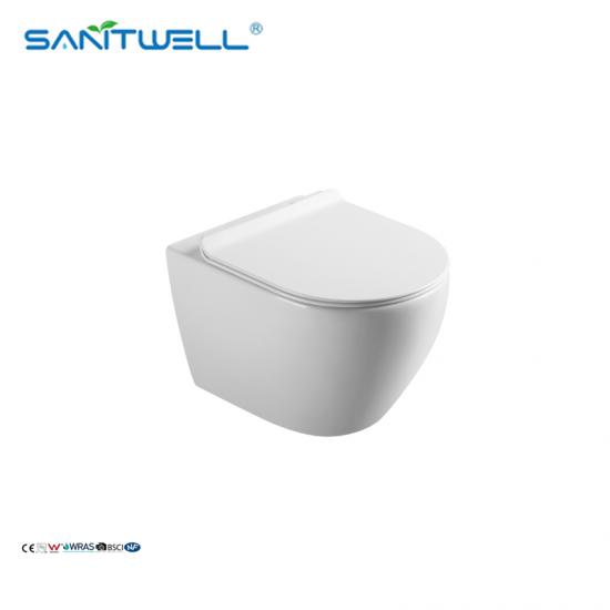 round wall hung pan wc suite