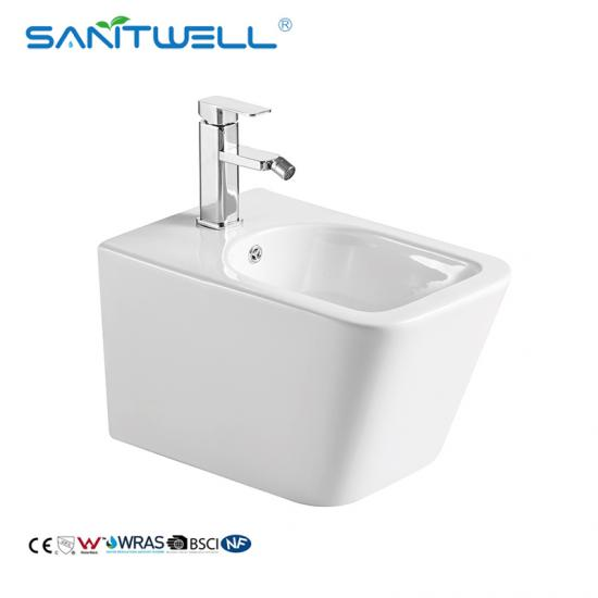 rimless wall hung toilet bidet combo